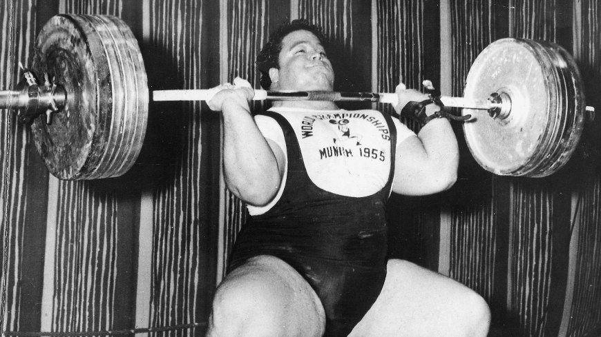 Paul Anderson presses 415 pounds in Munich Olympics